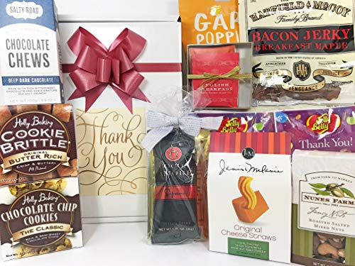 Thank You Gift Box Basket - Treats are Always Better Than Cards! - Perfect Gift For Real Estate Closings Clients Businesses Offices Friends Neighbors Family Women and Men Prime ()
