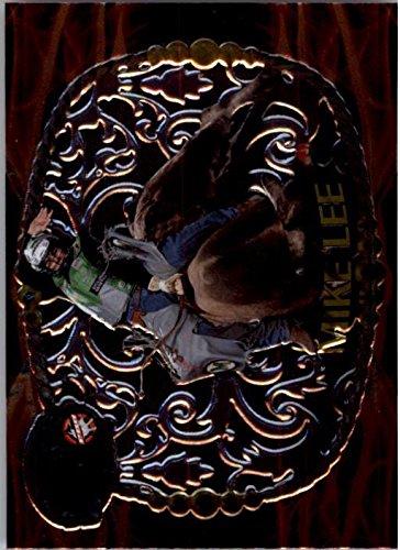 2009-press-pass-8-seconds-pbr-belt-buckle-bb7-mike-lee-nm-mt