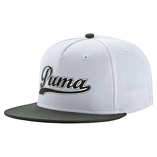 PUMA Script Snapback Cap Forest Night/White One Size ()