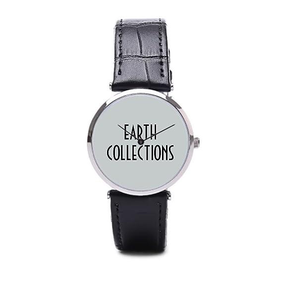 tinax piel relojes nuevos mejores reloj de pulsera Negro/Plata: Amazon.es: Relojes