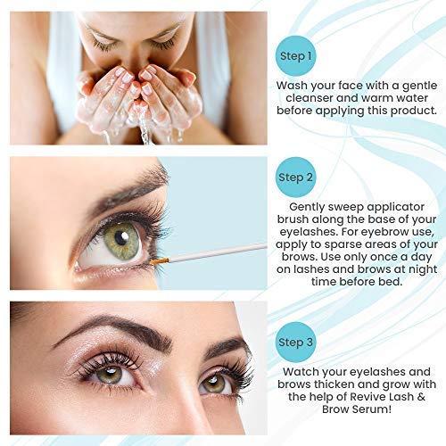 Eyelash Growth Serum & Eyebrow Enhancer - Biotin, Vitamin E & Collagen - Rapid Growth Serum for Thicker & Longer Lashes - for Men and Women, - 4ML / 0.14 FL OZ