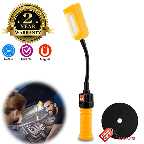 Bright Portable Work Light Rechargeable 18650 Battery