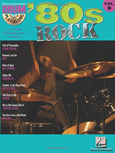 80S Rock Drum Play-Along Volume 8 Bk/CD