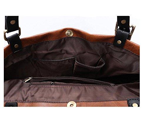 Suave Brown Bolso De Señoras Hobo Diseñador Cuero Y De Liviano De Grande Hombro Bolso De PINCHU De Black TwpPqOTd