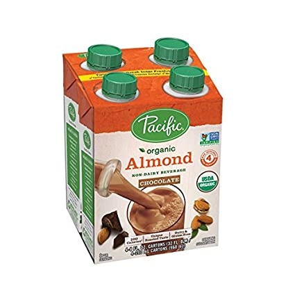 Pacific Foods - Leche de Almendra Orgánica 8 oz Chocolate - 4Pack