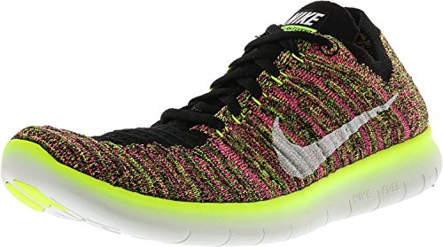 Nike Damen Wmns Free RN Flyknit OC Laufschuhe Schwarz (Mehrfarbig / Multi-color)
