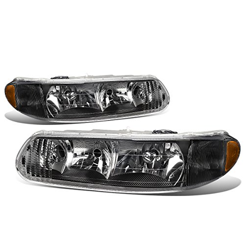For Buick Century/Regal Pair of Headlight (Black Housing Amber Corner) 6th gen