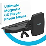 [INTRO PRICE] APPS2Car Ultimate Magnetic CD Player Phone Mount is Universally Compatible w/ Android + IOS Devices + All In-Car CD Players, Superior Gripping Power Thanks to Six Magnets.