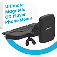 APPS2CAR Ultimate Magnetic CD PlayerPhone Holder For Car.Car Phone Mount Universally Compatible w/ Android +iPhone X, 8, 8Plus + All In-Car CD Players withMagnetic Phone Car MountMagnets.