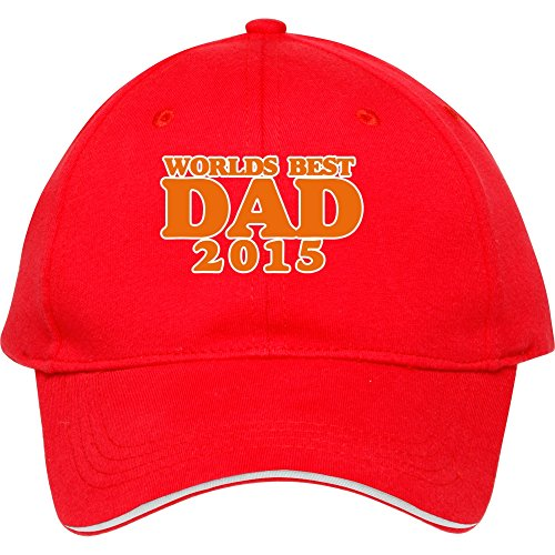 2015 Male/female Best Style Worlds Greatest Dad 2015 Snapback For Outdoor Head Wear Cheap Price Quick Shipping Red Cotton Kristicastil (How To Wear A Santa Hat)