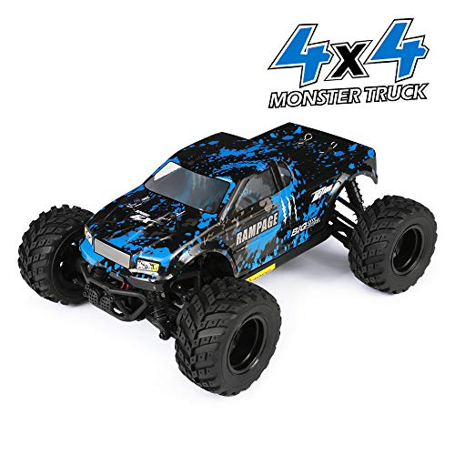 (HAIBOXING RC Cars 1/18 Scale 4WD Off-Road Monster Trucks with 36+KM/H High Speed, 2.4 GHz Remote-Controlled Electric All Terrain Waterproof Vehicles with Rechargeable Battery for Kids and Adults RTR)