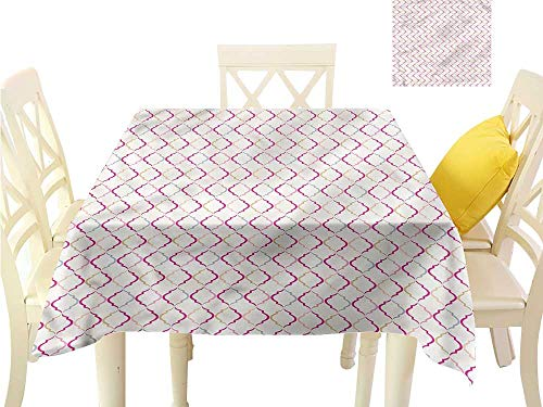 WilliamsDecor Picnic Cloth Trellis,Victorian Ancient Oval Dining Table Cover W 54