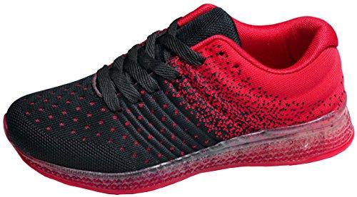 Donna Gibra Schwarz Rot Donna Gibra Sneaker Sneaker Schwarz wq47zn1