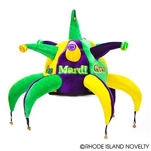 Deluxe Plush Mardi Gras Spike Jester Hat
