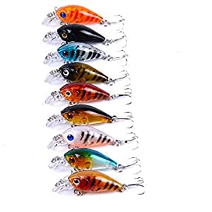 9 Pcs/Lot 4.5cm 4G Crankbait Fishing Lure Fish Wobbler Tackle Crank Bait Isca Artificial Hard Bait Swimbait
