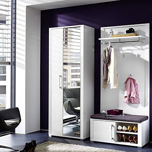 Garderoben Set Go258 Weiss 3 Tlg Amazon De Kuche Haushalt