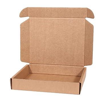 Kartox | Caja de Cartón Kraft Para Envío Postal | Caja de Cartón Automontable para Envío o Almacenaje | 31X26X5.5 (Pack de 20) - L