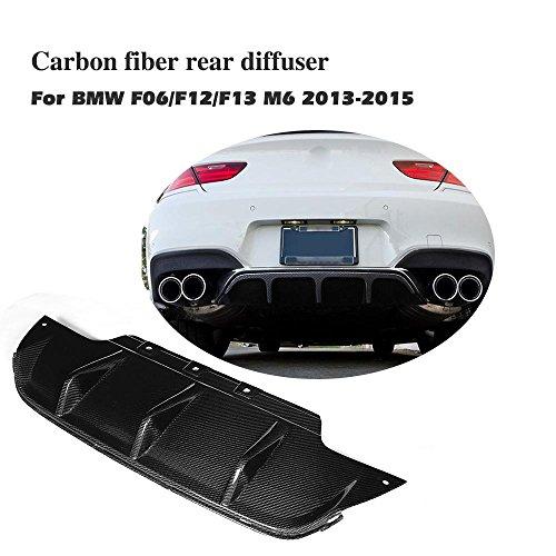 jcsportline Carbon Fiber Rear Diffuser Compatible BMW F06 F12 F13 M6 Bumper 2013-2018 ()