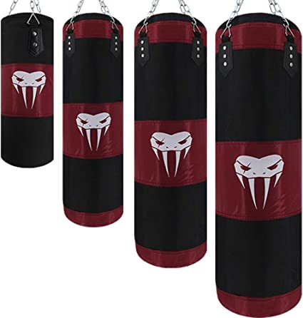 Punching Bag Boxing Sandbag with Iron Hanging Chains Kickboxing for Men//Kids