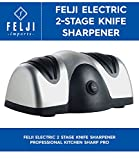 Felji Electric 2 Stage Knife Sharpener Professional Kitchen Sharp Pro ()