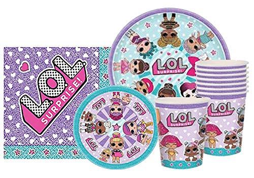 Amscan LOL Party Supplies Surprise Party Bundle for 8 Guests by L.O.L. Surprise!