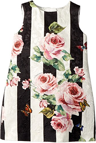 Dolce & Gabbana Kids Baby Girl's Sleeveless Dress (Toddler/Little Kids) Stripe Rose - Dolce & Gabbana Clothing