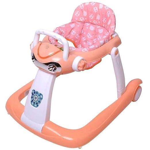 Caminador Plegable 2 en 1 para bebé 7-18 Meses (Rosa): Amazon.es ...