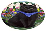 Doggie of the Day Spring Floral Black Cat Oval Envelope Seals OVE64952 (20)