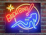 New 24'' x 20'' UL Listed Bada Bing Girl Real Glass Neon Light Sign Home Bar Display Great Gift Home Decoration Larger Art Sign (Includes Neon Dimmer) Made By AOOS