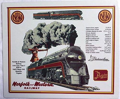 R&R Norfolk & Western Railroad 611/Class J TIN SIGN (J Norfolk Class Western)