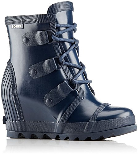 Sorel Womens Joan Lucido Wedge Rain Boot Collegiale Marina / Atmosfera