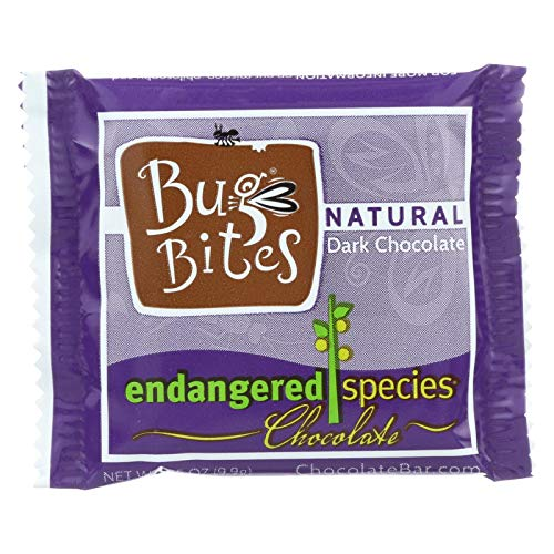 Endangered Species Dark Chocolate - Endangered Species Natural Chocolate Bug Bites - Dark Chocolate - 72 Percent Cocoa - .35 oz - Case of 64