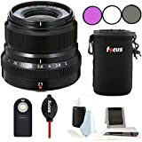 Fujifilm XF 23mm f/2 R WR Lens (Black) w/Focus Accessory Bundle