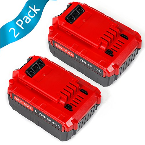 SISGAD 20V Max 5.0Ah Lithium Replacement Battery for Porter Cable PCC685L PCC680L Cordless Tools Batteries 2 Pack