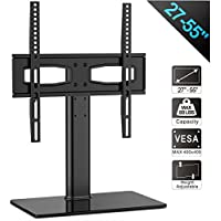 FITUEYES Universal TV Stand/ Base Tabletop TV Stand with Mount for up to 55 inch Flat screen Tvs Vizio/Sumsung/Sony Tvs/xbox One/tv components Max VESA 400x400 TT104201GB