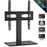 Fitueyes Universal TV Stand/Base Tabletop TV Stand with Mount for up to 55 inch Flat screen Tvs Vizio/Sumsung/Sony Tvs/xbox One/tv components Max VESA 400x400 TT104201GB