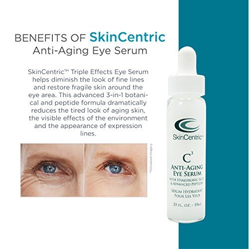 SkinCentric- C3 Anti-Aging Eye Serum- With Hyaluronic Acid and Advanced Peptides 6 Pack - No-Sting Skin-Prep Wipes [54920600] 50 ea