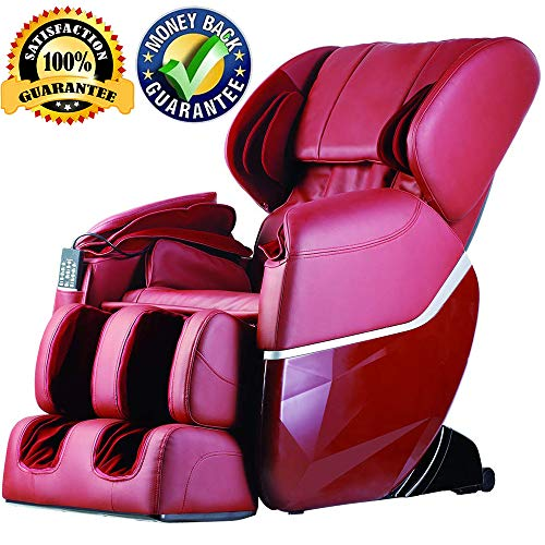 Full Body Electric Shiatsu Massage Chair Zero Gravity FDA Approved Recliner Chair With Built-in Heat Therapy And Foot Roller Air Massage System Stretch Vibrating For Home Office,Burgundy