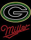 Desung New 20''x16'' Miller Lite Sports Team GB-Packers Neon Sign (Multiple Sizes) Man Cave Bar Pub Beer Handmade Neon Light FX15