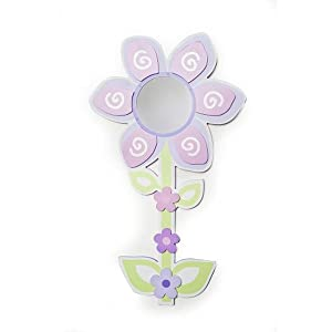 "Babies""R""Us Mirror Baby Girl Flower Wall Decor Pink"