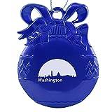 Washington, D.C., Capital of the USA-Christmas Tree Ornament-Blue