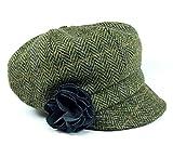 Mucros Weavers Green Irish Hat Wool Herringbone Made in Ireland