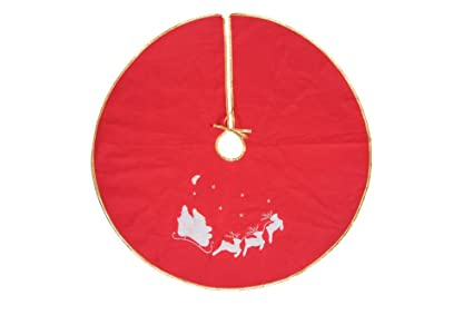 red and white tree skirt