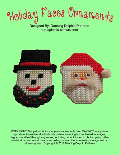 Holiday Faces Ornaments: Plastic Canvas (Face Plastic Canvas)