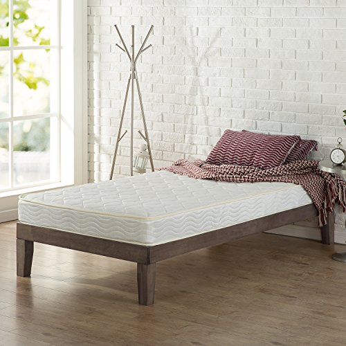 Zinus 6 Inch Hybrid Green Tea Foam and Spring Mattress, Twin