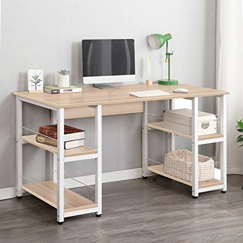 SogesGame Writing Computer Desk 55 Inches Laptop PC Desk,Trestle Desk Writing Study Home Office Desk Workstation