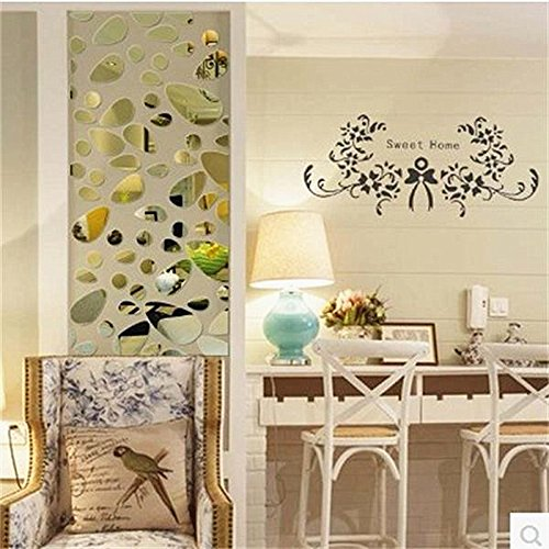 Amazon.com: JEWH 12pcs/Set 3D DIY Wall Sticker Decoration Mirror Wall Stickers for tv Background Home Decor Modern Acrylic Decoration Wall Art: Home & ...