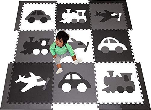 SoftTiles Kids Foam Playmats - Transportation Theme -