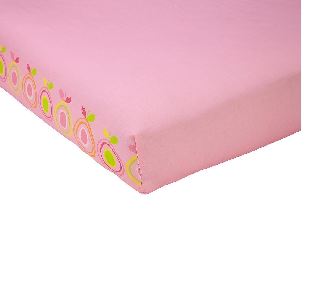 Sadie /& Scout Bird Print Crib Sheet Pink