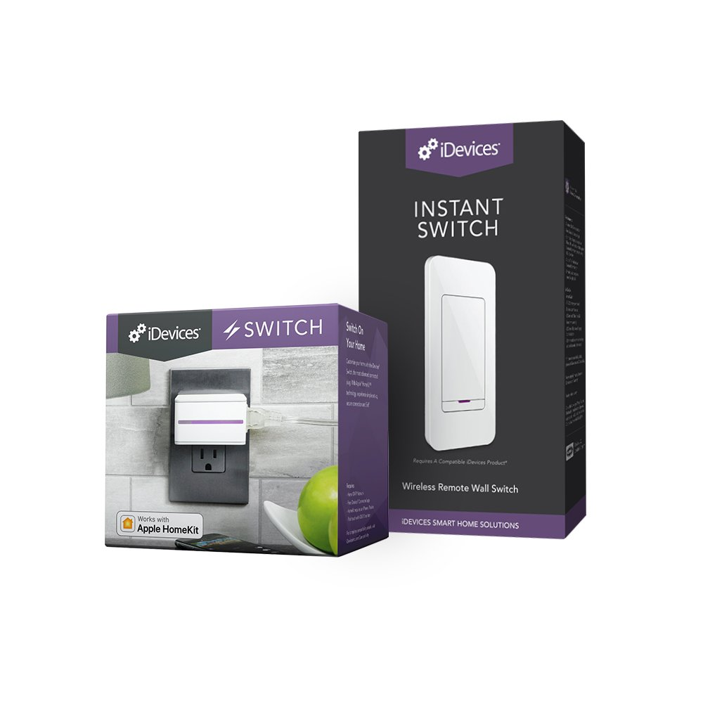 iDevices Switch + Instant Switch - Smart Plug & Remote Wireless Wall Switch, Versatile Smart Home Control, No Wiring by iDevices (Image #1)